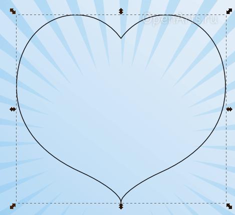 Объединение двух кривых в одну в Inkscape
