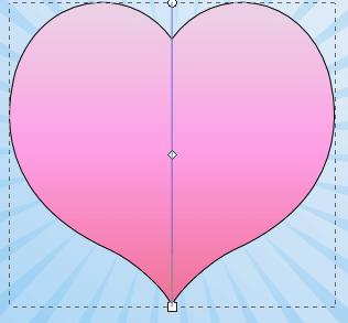 Сердце с градиентной заливкой в Inkscape