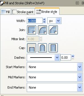 Стиль обводки в Inkscape