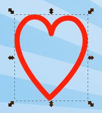 Контур сердечка в Inkscape