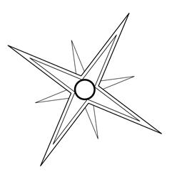Создаем новый слой и перемещаем дубликат звезды на него