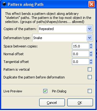Значения параметров