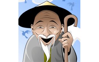 Урок по рисованию вьетнамского старичка в Inkscape