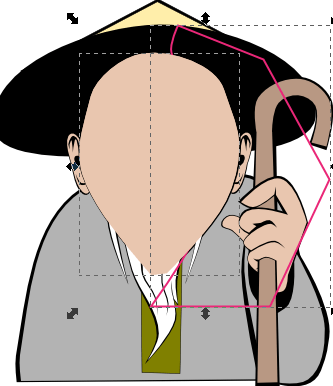 Дублирование контура лица в Inkscape