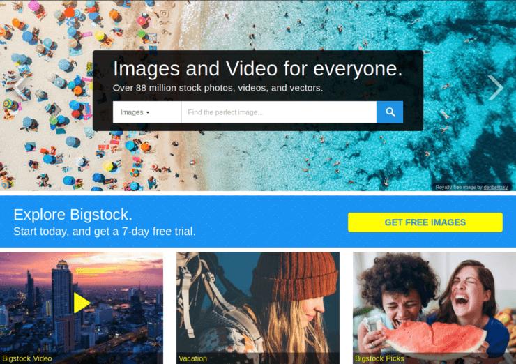 Bigstock - удачная загрузка изображений