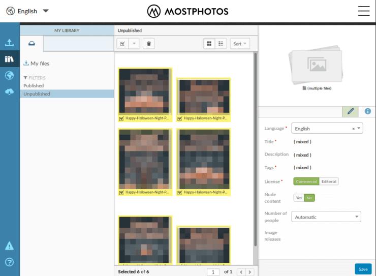 Mostphotos - атрибутирование изображений