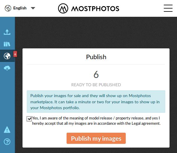 Mostphotos - публикация изображений